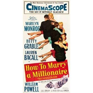 How To Marry A Millionaire Movie poster Metal Sign Wall Art 8in x 12in