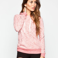 Full Tilt Womens Essential Marled Hoodie Coral  In Sizes