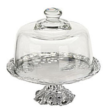 Arthur Court Grape Footed Plate with Dome