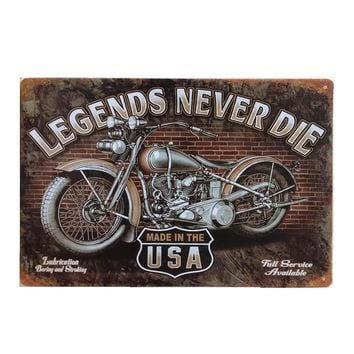 Awesome Motorcycle  Retro Style  Vintage Metal Tin Sign