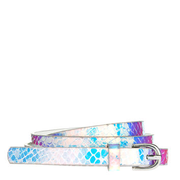 ASOS | ASOS Super Skinny Waist Belt With Hologram Print at ASOS