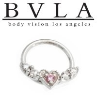 Body Vision BVLA 14kt Gold Flying Heart Septum Ring Septum Ring 18g [36-0861 BVLA14ktFlyingHeart18g] - $231.99 : Diablo Body Jewelry, The Art of High Quality