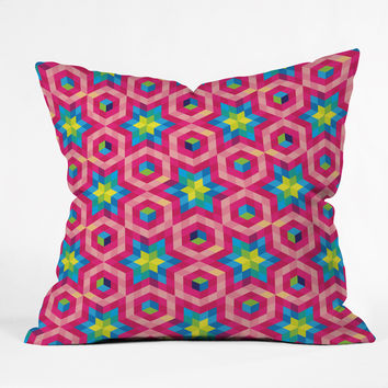 Raven Jumpo Facets Throw Pillow