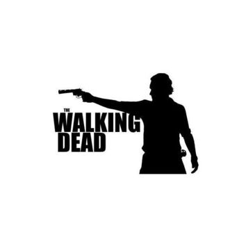 The Walking Dead Rick Silhouette window vinyl decal sticker