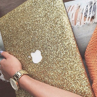 GLITTER MacBook Hard Case with Cut Out - ALL COLORS