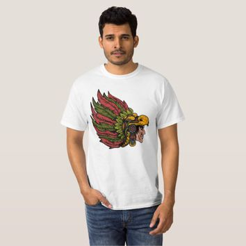 Cool Indian Cheiftain Head Illustration texture T-Shirt