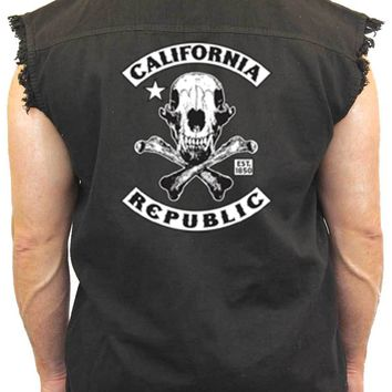 Men's Sleeveless Denim Shirt California Republic