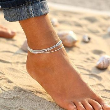 Natural Stone Beads Boho Foot Jewelry