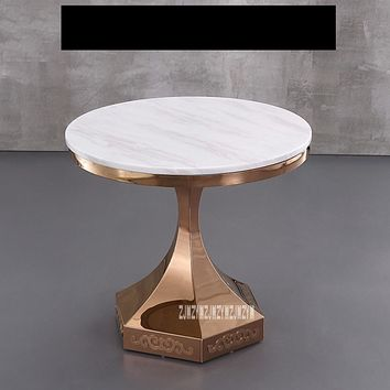 Marble Top Round  Coffee Table Or Side Table