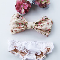Vintage Bow Bandeau Sunsuit Bikini style.DiVa Halter Neck. Floral Sunkini Sunbathing. Sexy and cute. Bra Top
