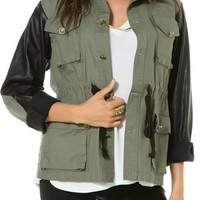 LUCCA ARMY PU JACKET