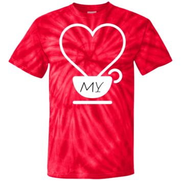 HEART MY COFFEE Tie Dye T-Shirt