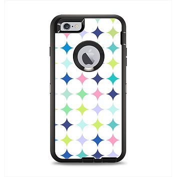 The Vibrant Fun Colored Pattern Hoops Inverted Polka Dot Apple iPhone 6 Plus Otterbox Defender Case Skin Set