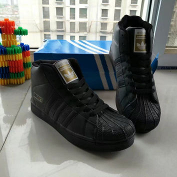 """""""Adidas"""" Fashion Casual Unisex High Help Shoes Sneakers Couple Shell Head Plate Shoes"""