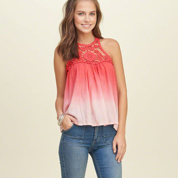 Ombre Lace Panel Cami