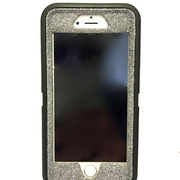 iPhone 6 (4.7 inch) OtterBox Defender Series Case Glitter Cute Sparkly Bling Defender Series Custom Case  black / graphite