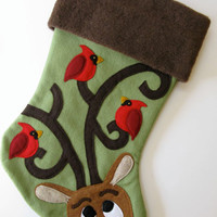 Personalized Christmas Stocking--Perfect Perch