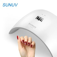 SUNUV SUN9X LED UV Nail Lamp 24W Lamp Nail Curing Machine for Fingernail Toenail with LCD Display