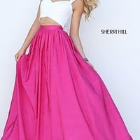 Sherri Hill Two Piece Prom Dress with A-Line Skirt