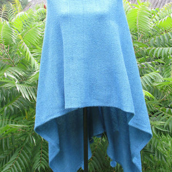 women ponchos knit poncho wool poncho wool cape turquoise knit poncho wraps shawls knit scarf knit wrapknit shrug knit blanket knit sweater