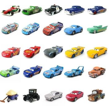 Disney Pixar Cars 3 27Styles Lightning McQueen Mater Jackson Storm Ramirez 1:55 Diecast Metal Alloy Model Toy Car for children