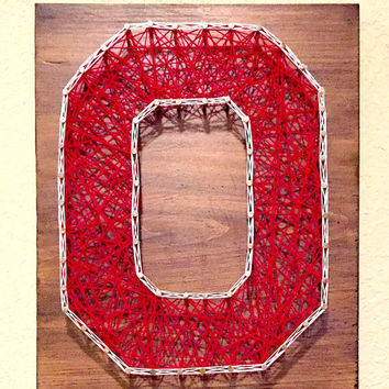 Ohio State Buckeyes String Art. Man Cave, Living room. Home Decor.