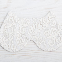 White Mask Lace Sleep Mask Cat Bridesmaid Gift Mother's Day Gift