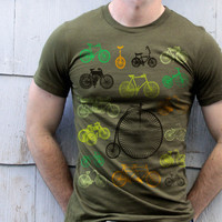 Bike T-shirt Green Hues
