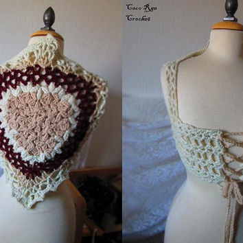 Victorian Lace Corset / Flower of Life Vest / Festival Clothes