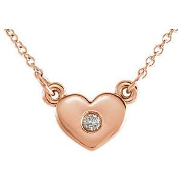 Heart Accent diamond Necklace