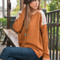 Chip Off The Block Sweater, Rust