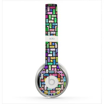 The Colorful Abstract Tiled Skin for the Beats by Dre Solo 2 Headphones