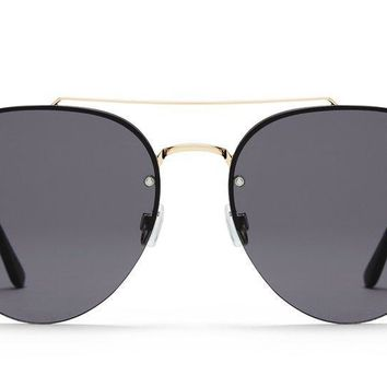 Quay Somerset Gold Sunglasses / Smoke Lenses