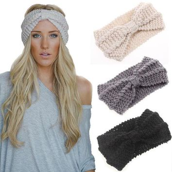 Handmade wool knit warm hair ladies hair accessories hair band