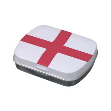 Patriotic candy tins with Flag of England