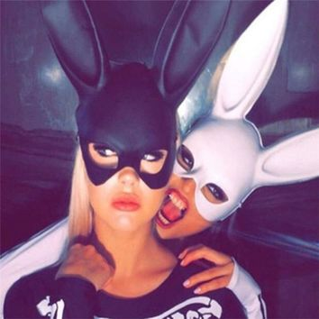 Women Halloween Mask Bunny Rabbit Long Ears Mask Party Cosplay Costume Fancy Dress Decor Masks