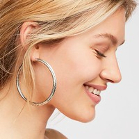 Scripted Hoop Earrings