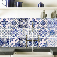 Tile decals Stickers - Tile Decals - Tile decals for Kitchen or Bathroom - PACK OF 20 - Mexico, Morocco, Portugal, Spain, Mosaic #18