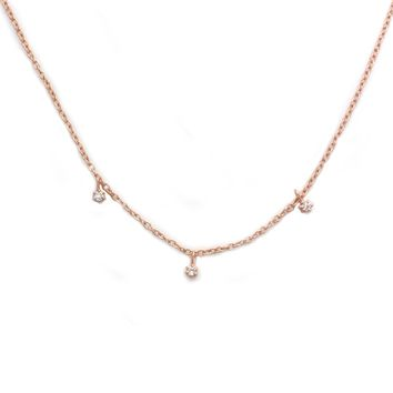 14kt Rose Gold Twinkling Diamond Choker