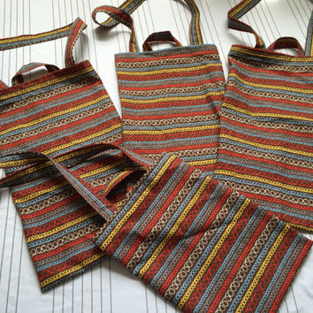 Reusable Grocery Bags/Cloth Produce Bags - Set of 4- Think Green Recycle and Reuse.