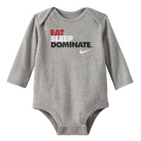 Nike ''Eat Sleep Dominate'' Bodysuit - Baby Boy, Size: