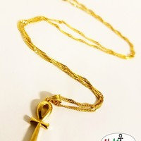 22K Ankh Necklace