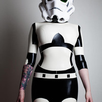 Star Wars Stormtrooper Inspired Rubber Latex Dress