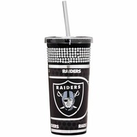 Oakland Raiders Bling Straw Tumbler