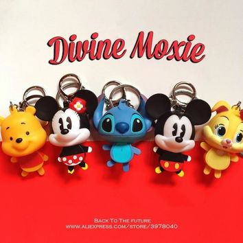 Disney Mickey Mouse Stitch 6cm mini doll Action Figure Anime Decoration Collection Figurine Toy model for children gift