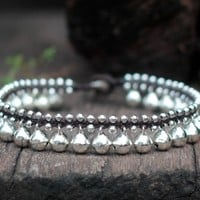Silver Bell Anklet by brasslady on Etsy