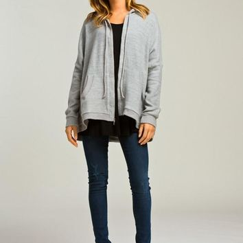 Heather Boxy Fit Hoodie