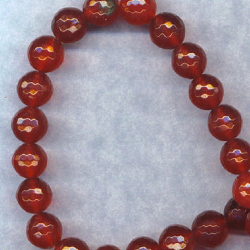 Dark RED Jade Rich Color 10mm Beads Faceted Loose Gemstones Round