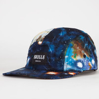 Skulls Cosmos Mens 5 Panel Hat Black One Size For Men 22709110001