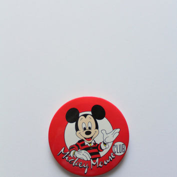 Vintage Mickey Mouse Club Button Pin 1993